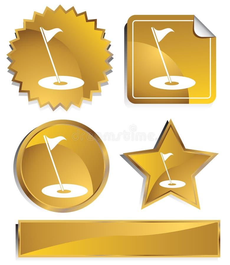 Goldish - golfe ilustração royalty free