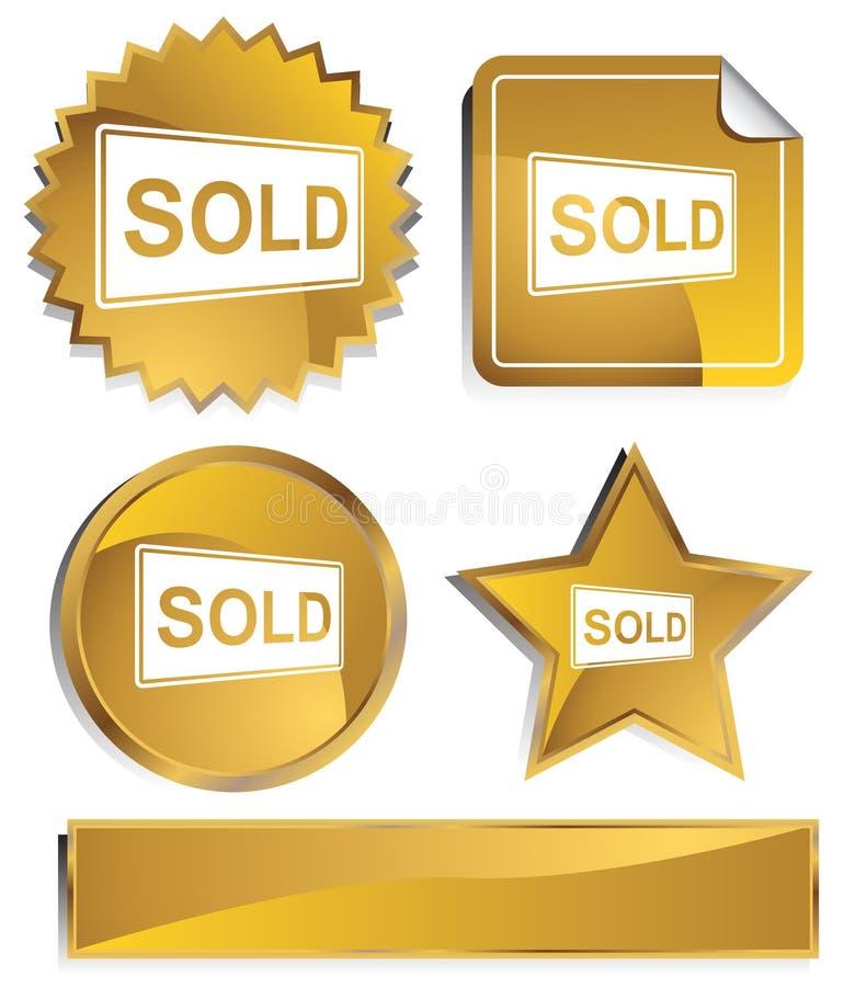 Goldish - Verkocht Teken vector illustratie