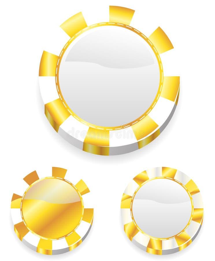 Goldkasinochips vektor abbildung