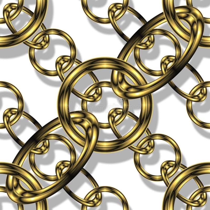 Goldkette stock abbildung