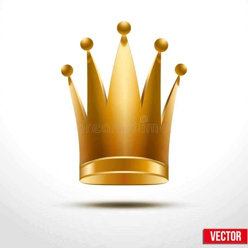 Goldklassische königliche Krone der Königin oder der Prinzessin vektor abbildung