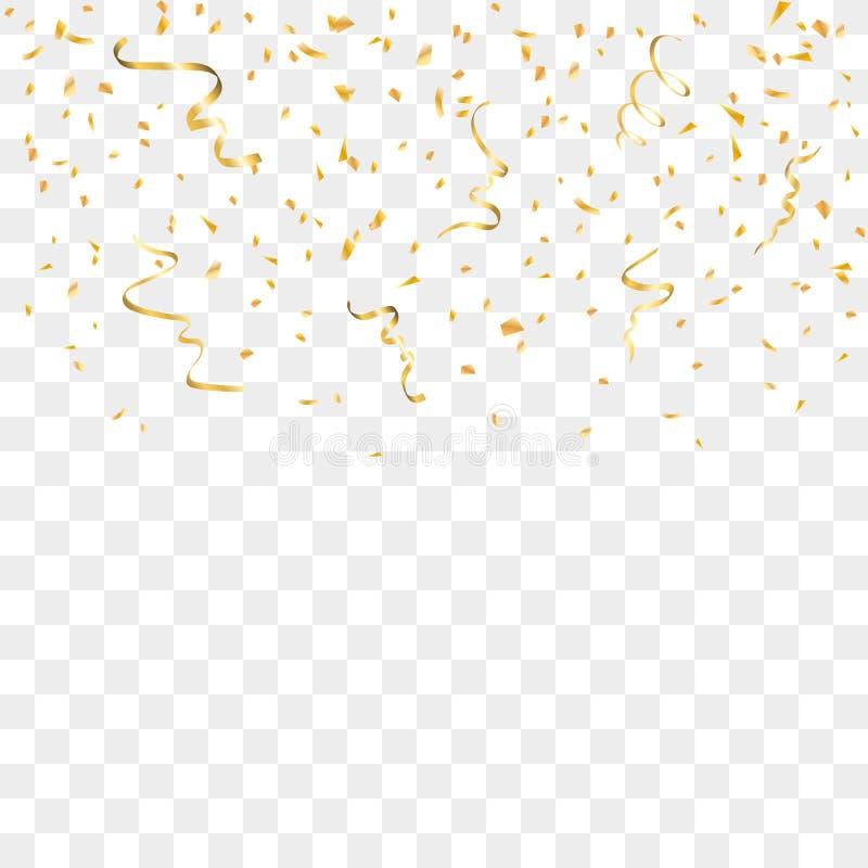 Goldkonfetti-Hintergrund lizenzfreie abbildung