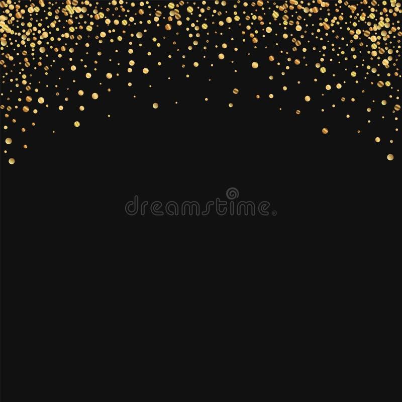 Goldkonfettis lizenzfreie abbildung