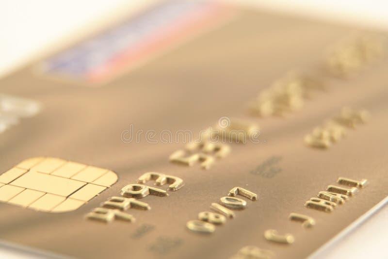 Goldkreditkarte stockbilder