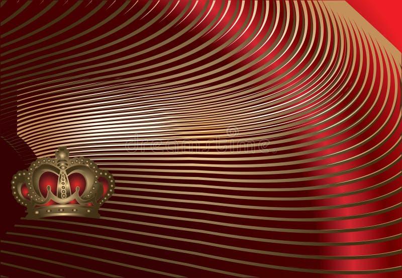 Goldkronen-Kurven lizenzfreie abbildung