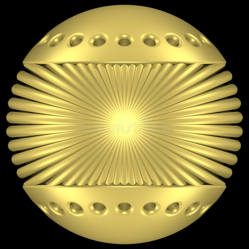 Goldkugel lizenzfreie abbildung