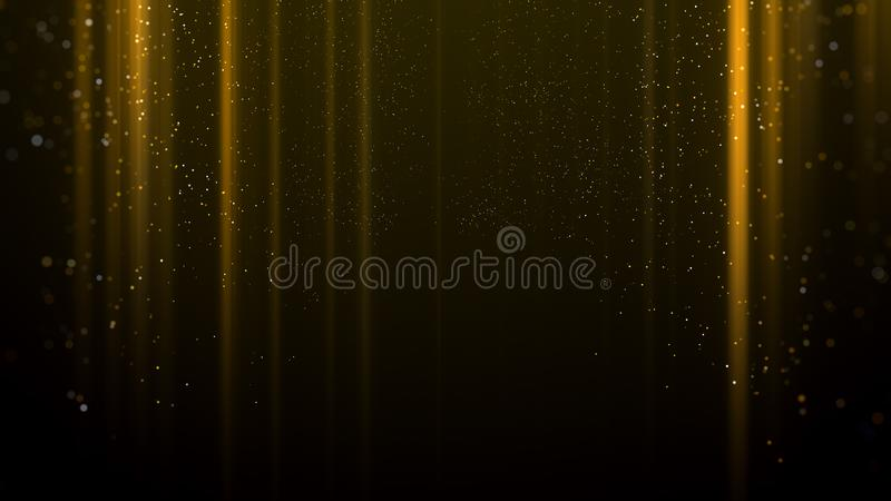 Goldlicht spricht Hintergrund zu stock abbildung