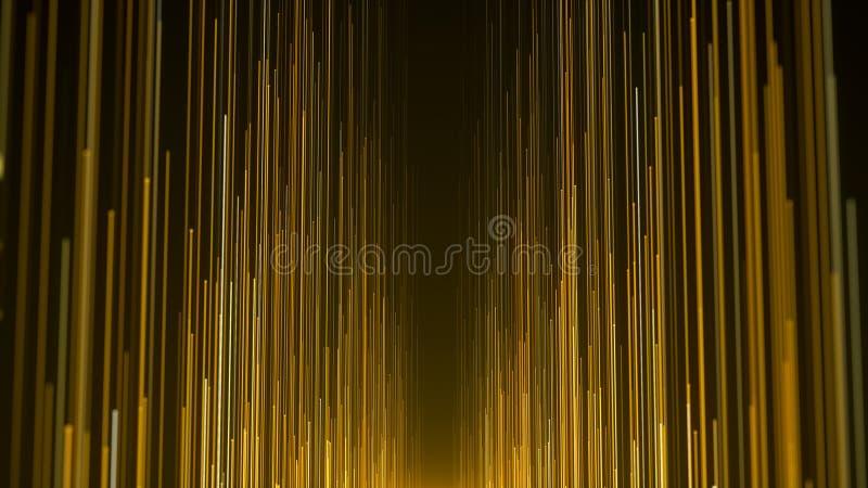 Goldlichtstreifen spricht Hintergrund zu lizenzfreie abbildung