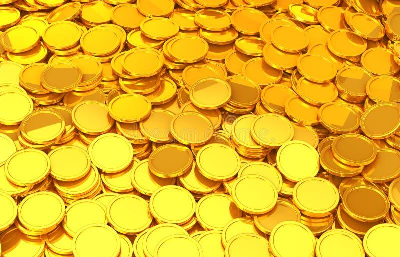 Goldmünzen lizenzfreie abbildung