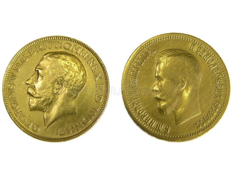 Download Goldmünzen stockfoto. Bild von antike, rückseite, russisch - 863610