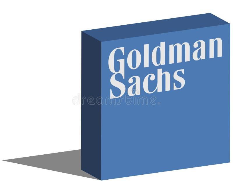 Goldman Sachs logotype in 3d vorm op grond stock illustratie