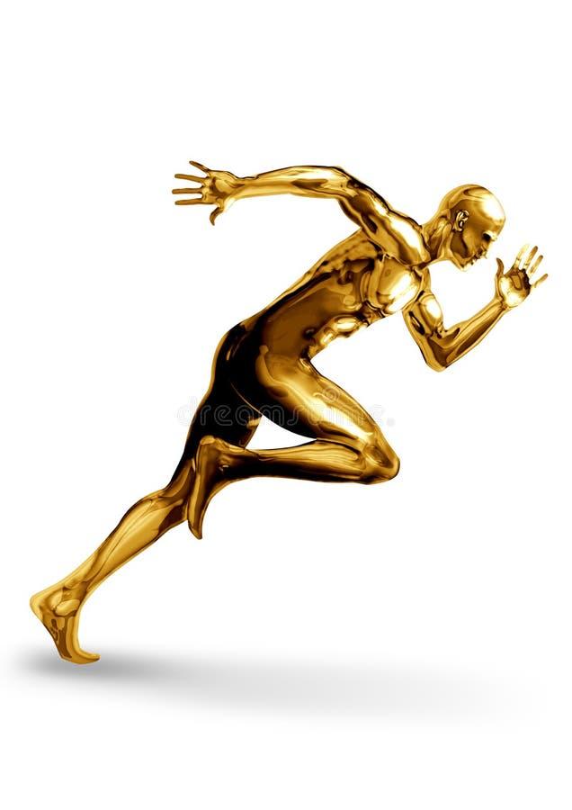Goldman Sprinter. A Golden man off to a fast start vector illustration