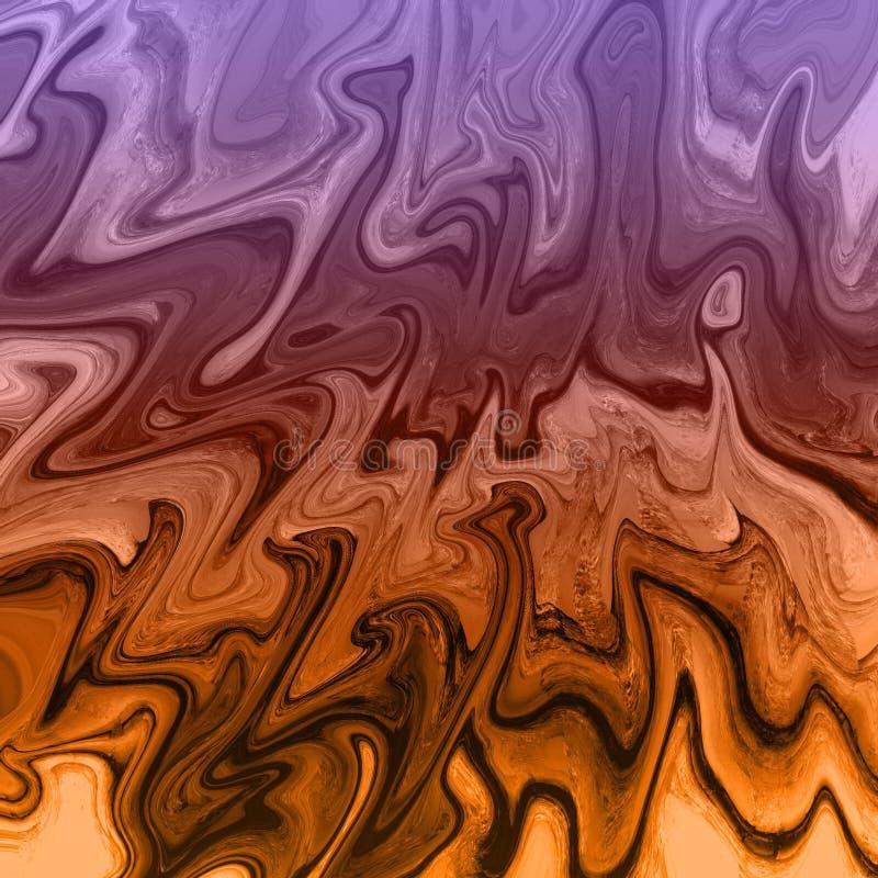 Goldmarmor und fl?ssiger abstrakter Hintergrund mit ?lgem?ldestreifen lizenzfreie abbildung