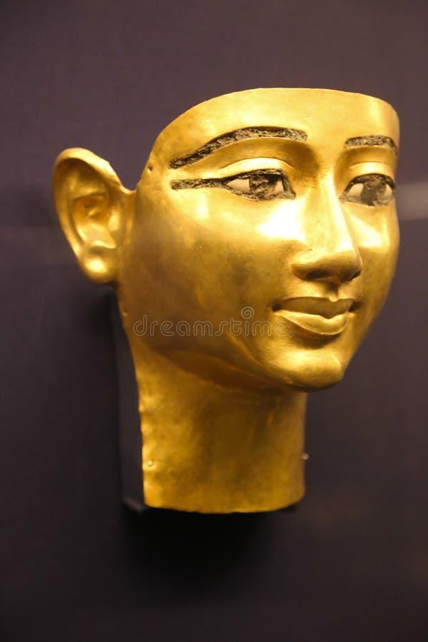 Goldmaske - Schatz Königs Tutankhamen, ägyptisches Museum stockbilder