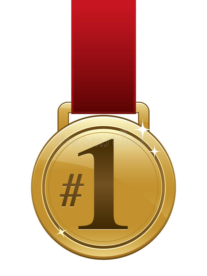 Goldmedaille lizenzfreie abbildung