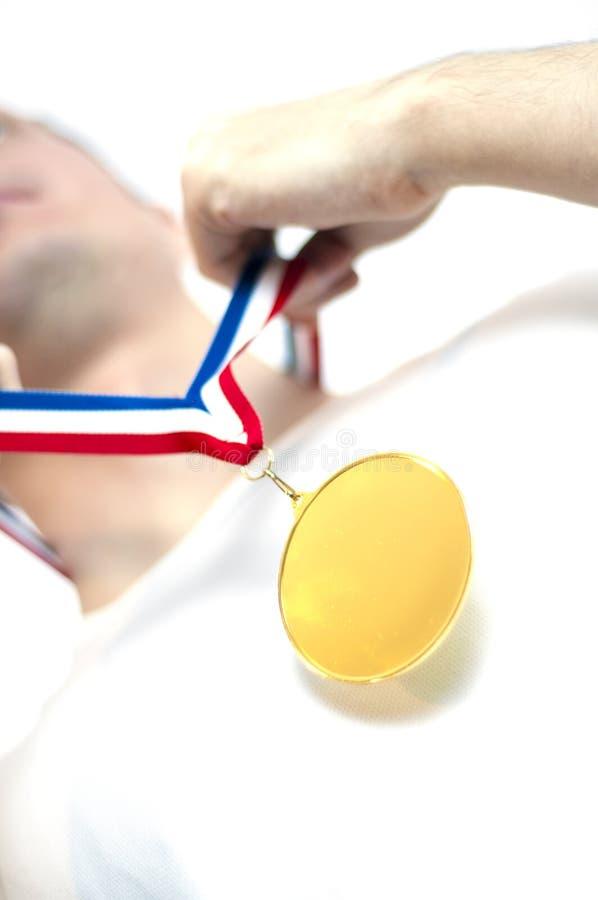 Goldmedaille stockfotos