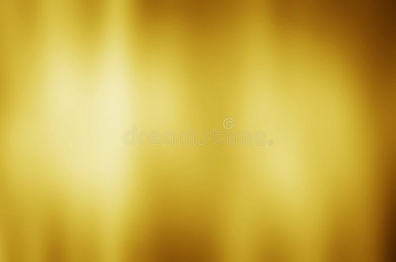 Goldmetallbeschaffenheitshintergrund mit horizontalen Lichtstrahlen