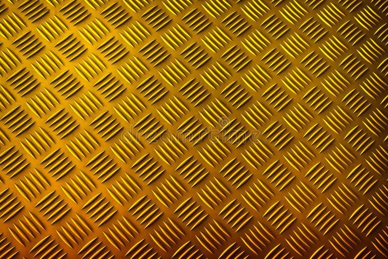 Goldmetallischer Beschaffenheitshintergrund lizenzfreie abbildung