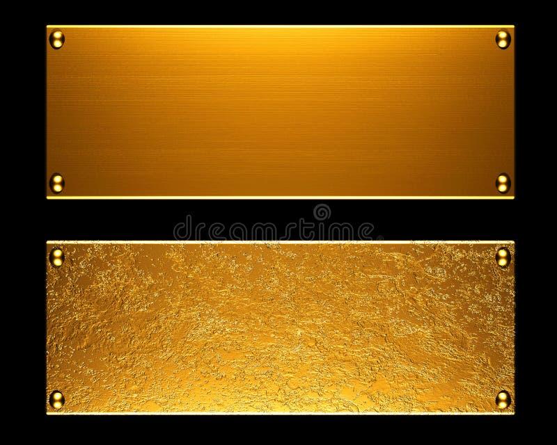 Goldmetallplattenhintergrund vektor abbildung