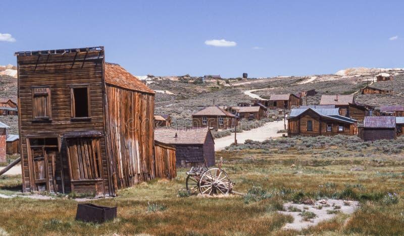 Goldmine Shanty Town Bodie stock foto's