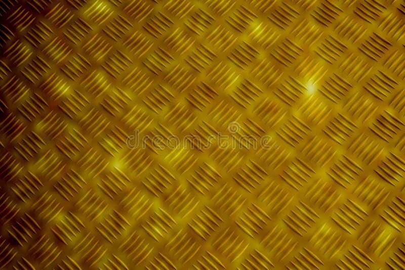 Goldmusterart der Messingplatte stockbild