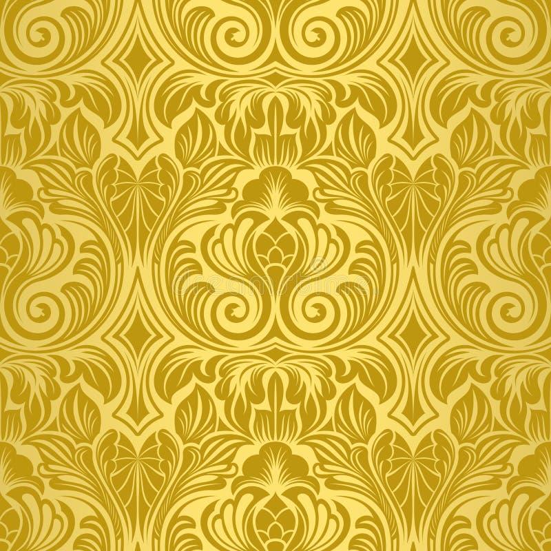 Goldnahtlose Tapete lizenzfreie abbildung