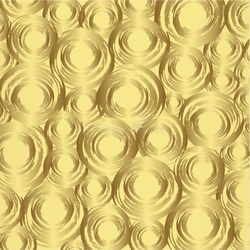 Goldnahtloser Hintergrund stock abbildung