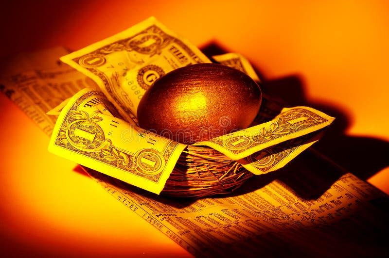 Goldnotgroschen lizenzfreie stockfotos