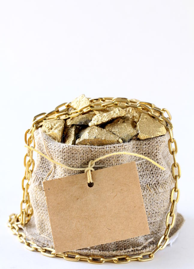 Goldnuggets stockfoto