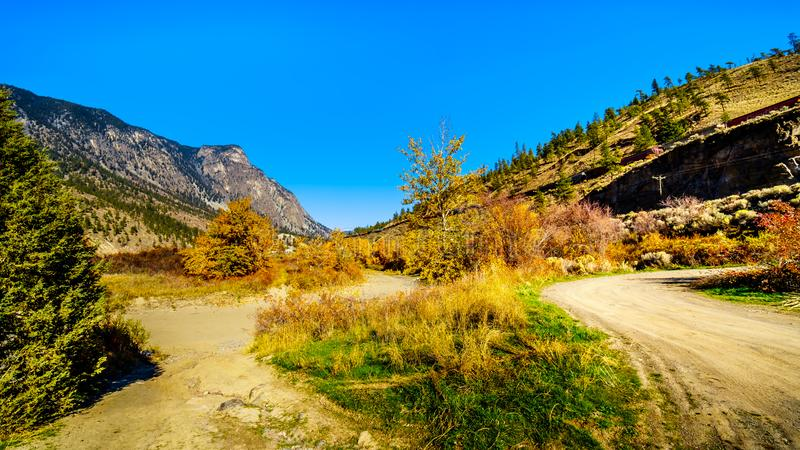 Goldpan Provincial Park in BC Canada royalty free stock image