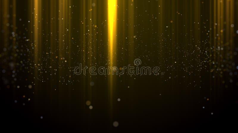 Goldpartikellicht spricht Hintergrund zu vektor abbildung