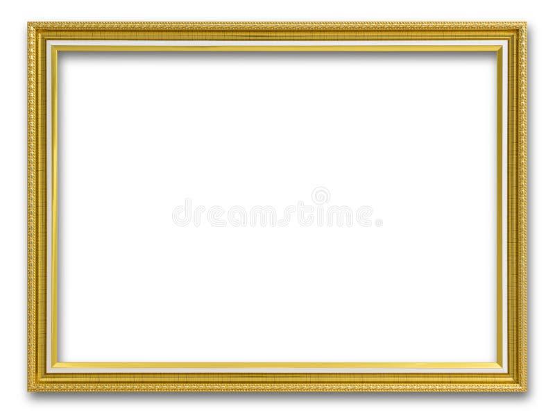 Goldrahmen für das Malen oder Bild auf weißem Hintergrund stockfoto