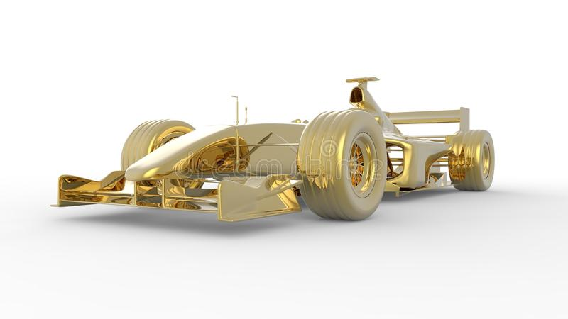 GoldRennwagen vektor abbildung