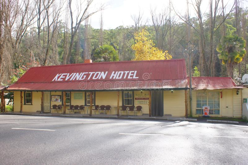 Kevington Hotel in High Country. In the Goldrush Era in the 1860's, John and Mary Garrett travelled from Beechworth to the new find in the Upper Goulbourn stock photos