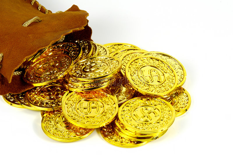 Goldsack lizenzfreie stockfotografie