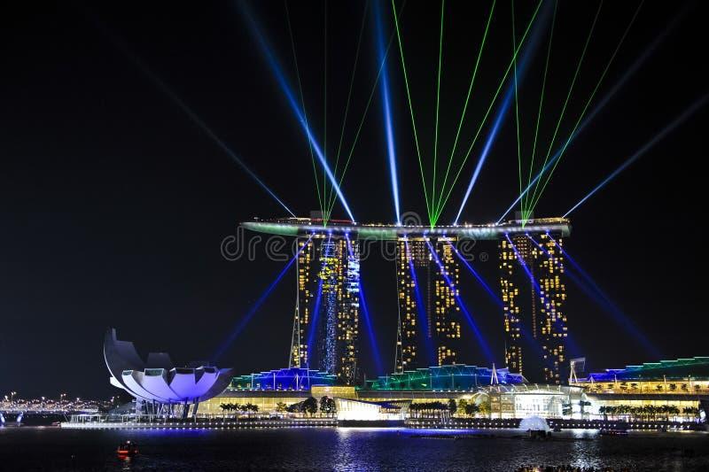 Goldsand-Kasino, Singapur stockfotografie