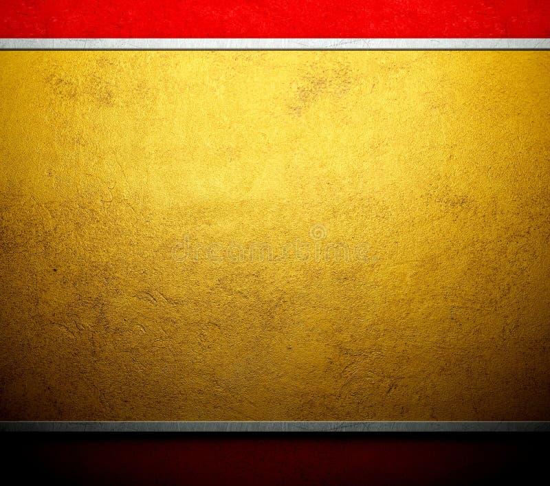 Goldschablonenmetallsegeltuchhintergrund stock abbildung
