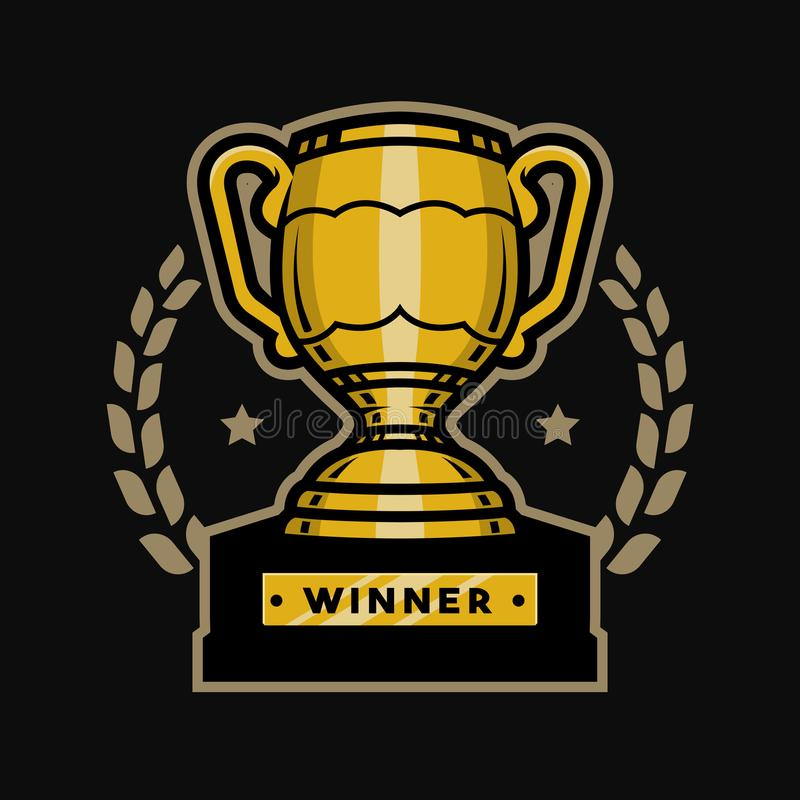 Goldschalentrophäe Emblem, Logo lizenzfreie abbildung