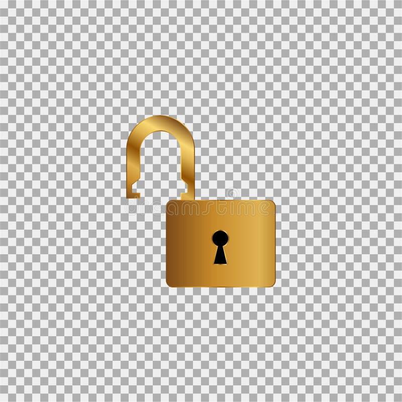 Goldschlüsselikone auf einem grauen Hintergrund lizenzfreie abbildung