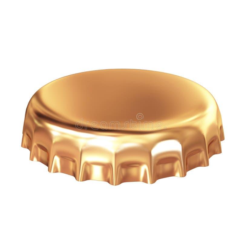 Goldschutzkappe stock abbildung