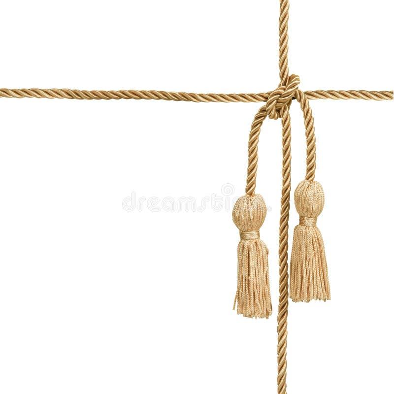 Goldseil mit Troddel lizenzfreies stockbild