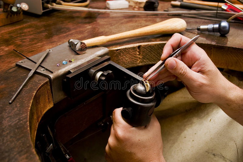 Download Goldsmith stock photo. Image of minor, work, goldsmith - 3032692