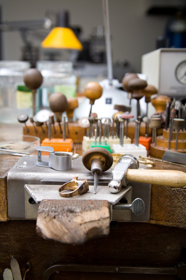 Download Goldsmith tools stock photo. Image of filing, hands, process - 8027904