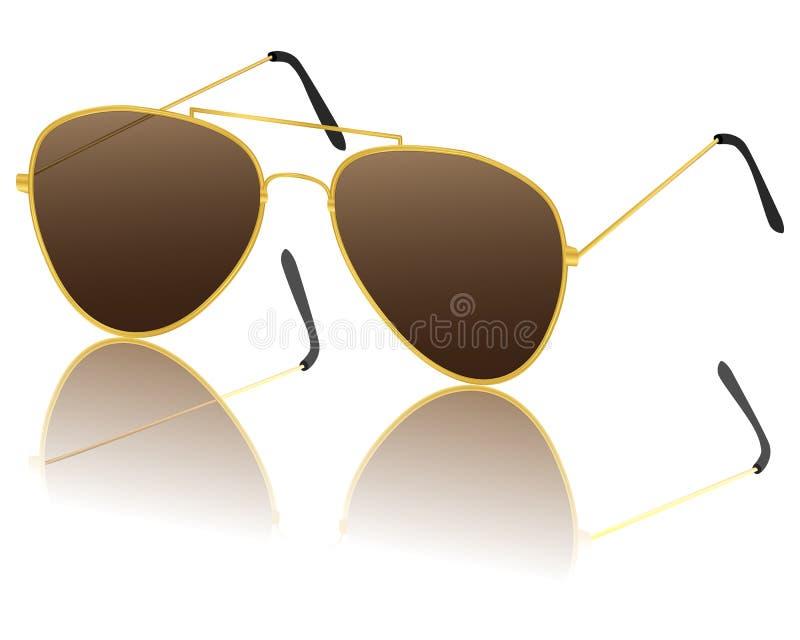 Goldsonnenbrille lizenzfreie abbildung