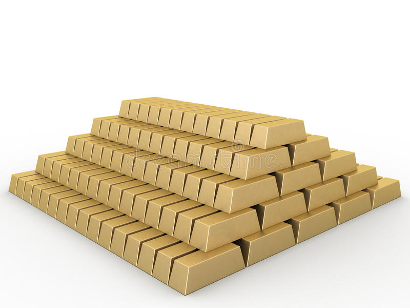 Goldstäbe â2 stock abbildung
