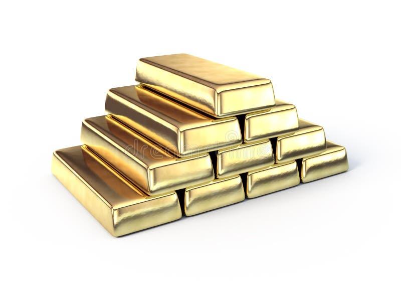 Goldstäbe lizenzfreie abbildung