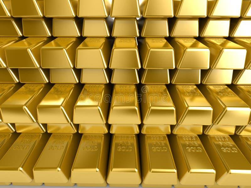 Goldstäbe stock abbildung