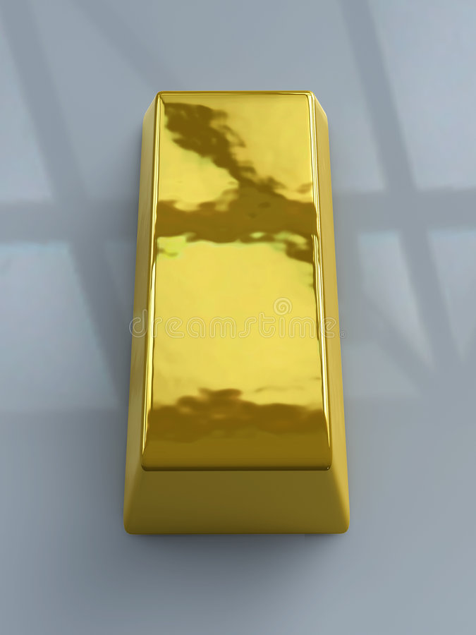 Goldstab - dunkle Umgebung