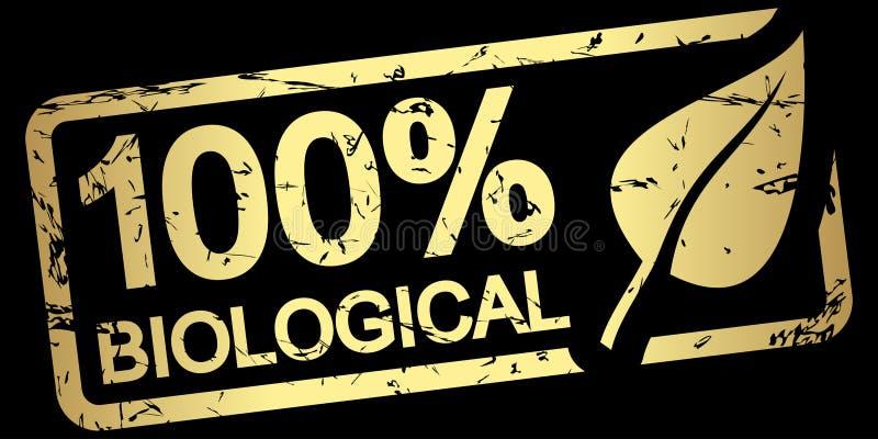 Goldstempel 100 % biologisch lizenzfreie abbildung