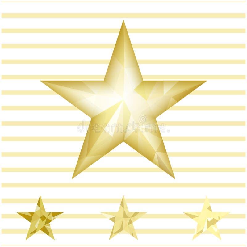 Goldstern-Vektorhintergrund lizenzfreie abbildung